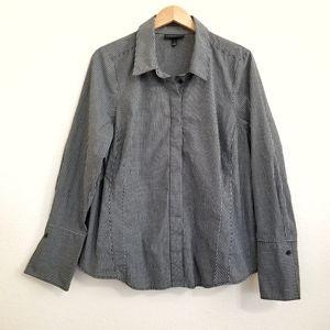 Lane Bryant Gingham Check Print Button Down Shirt